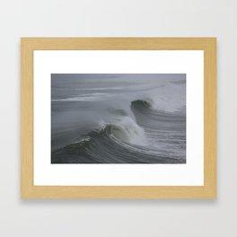 Big Sunday Winter Swell  Framed Art Print