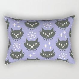 Retro Mid Century Modern Cat Pattern 329 Lavender Rectangular Pillow