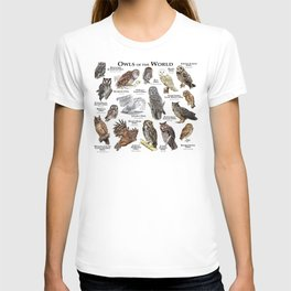 Owls of the World T-shirt