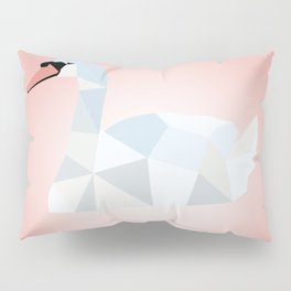 SWAN LOW POLY ART Pillow Sham