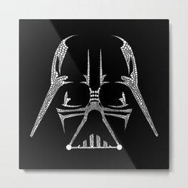 Vader Doodle Metal Print