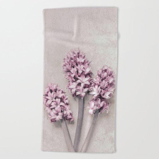 Beautiful Pink Hyacinths Beach Towel