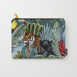 Jungle with tiger and tucan Carry-All Pouch