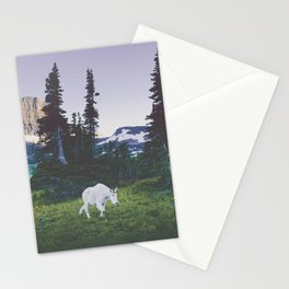 Twilight Mountain Goat Stationery Cards