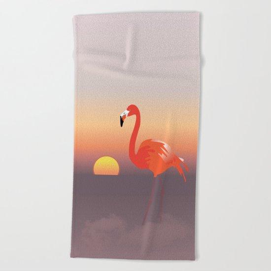 Floating diva in pink Beach Towel