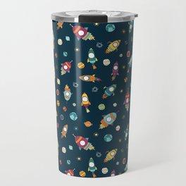 Rocket ships in space Travel Mug
