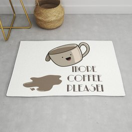 More coffee please! Coffee mug picture Rug