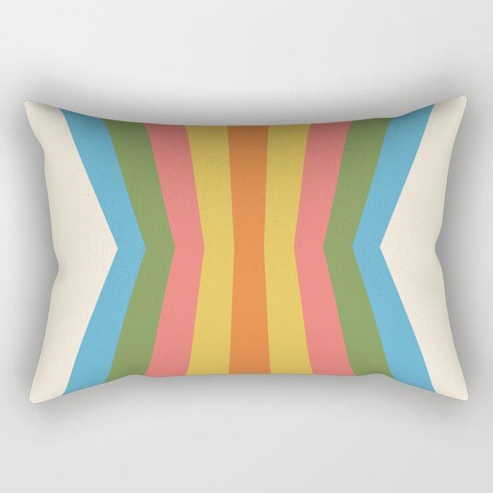 Retro Rainbow Reflection Rectangular Pillow