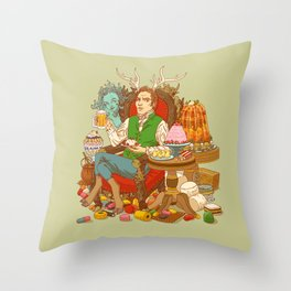 Gelatin God: Hydrocolloid Pantheon Throw Pillow