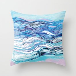 The ocean waves 2 Throw Pillow