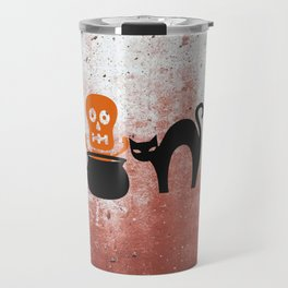 The Skeleton In The Witches Pot Travel Mug