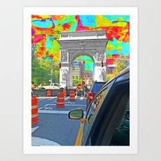 Painted Town Art Print