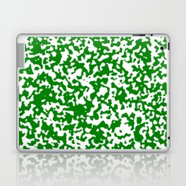 Small Spots - White and Green Laptop & iPad Skin