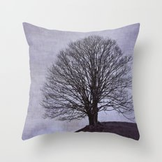 Tree in purple Throw Pillow