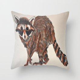 raccoon too Throw Pillow