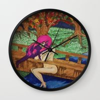 watch Wall Clocks featuring watch by Alyxka Pro