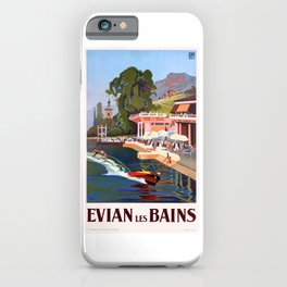 1937 France Evian-Les-Bains Travel Poster iPhone Case
