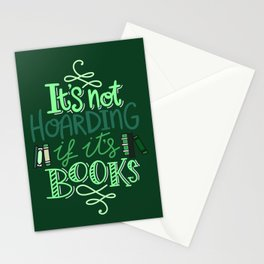 Hoarding Books - Green Stationery Cards