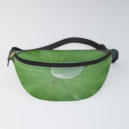 Green water lily in pond Fanny Pack
