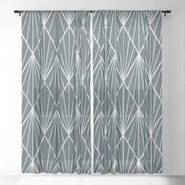 Peacock rhombus pattern Sheer Curtain