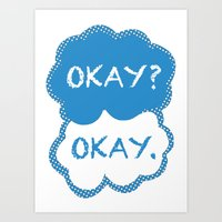 tfios Art Prints featuring TFIOS Dots by All Things M