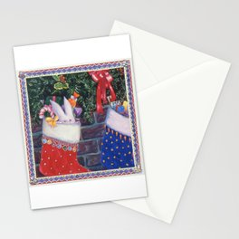 Young Bunny in Stocking Stationery Cards