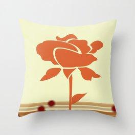 A Single Rose in My Garden Throw Pillow