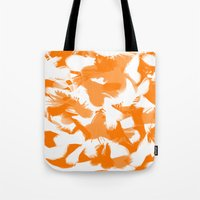 egg Tote Bags featuring Egg by Cart My Art
