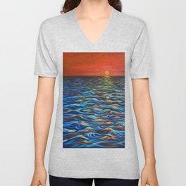 Sunset at Sea Unisex V-Neck