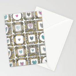 love heart frames Stationery Cards