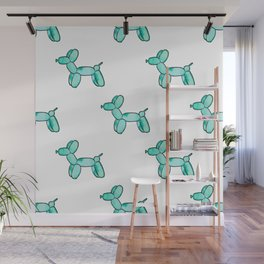Teal Watercolor Balloon Dogs! Wall Mural