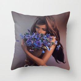 Ephemeral Beauty Throw Pillow