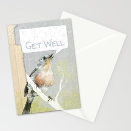 Blue Bird Get Well Card Stationery Cards