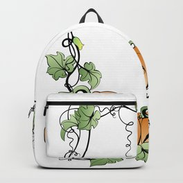 Frame with pumpkins and leaves Backpack