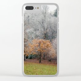 Autumn Meets Winter I Clear iPhone Case