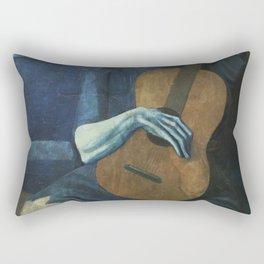 The Old Guitarist Rectangular Pillow