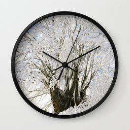 Icy Branches Wall Clock