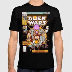 Alien Wars Mens Fitted Tee LARGE Black