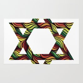 Star of David (Zion) Rasta Rug