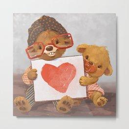 Heart Bears Metal Print