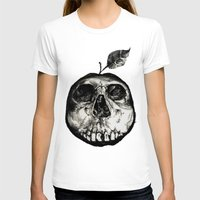 apple T-shirts featuring Apple by Black Bird