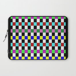 Retro 3 - Abstract, multicoloured, bold, chekkered, checkered pattern Laptop Sleeve