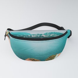 Italy Landscape Pink and Blue Fanny Pack