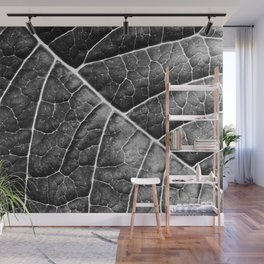 LEAF STRUCTURE no2 BLACK AND WHITE Wall Mural