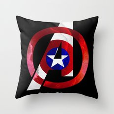 Captain America Avengers Throw Pillow