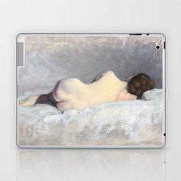 Soft Pastel Nude Female Oil painting of Woman Sleeping Laptop & iPad Skin
