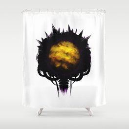 Zebes Shower Curtain