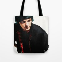 louis tomlinson Tote Bags featuring Louis Tomlinson by Becca / But-Like-How
