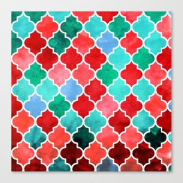 moroccan art watercolor transparant Canvas Print