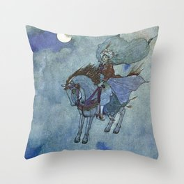 """The Magic Horse"" by Edmund Dulac Throw Pillow"